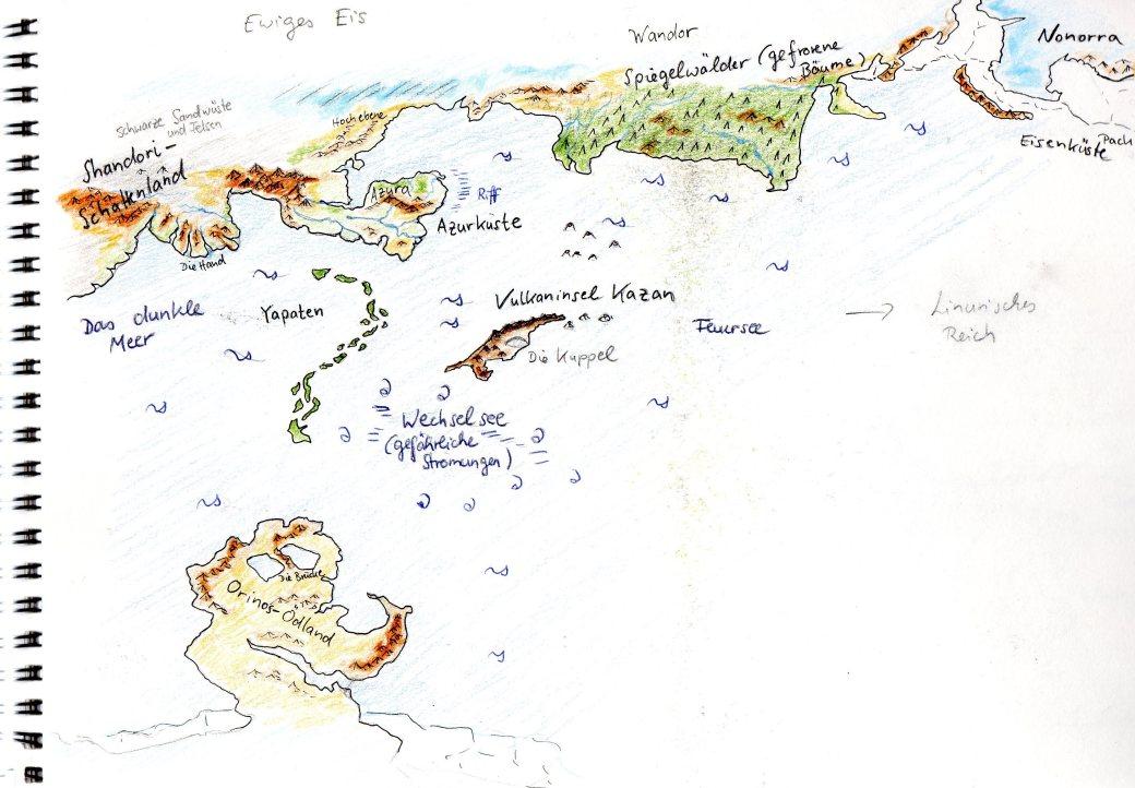 Karte rund um Kazan